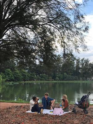 Elenco de 'Malhação - Toda Forma de Amar' grava no Parque Ibirapuera, em São Paulo