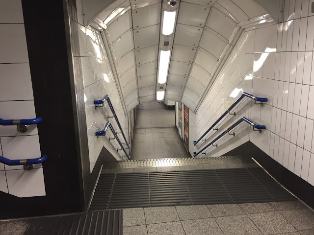 London underground station tunnel
