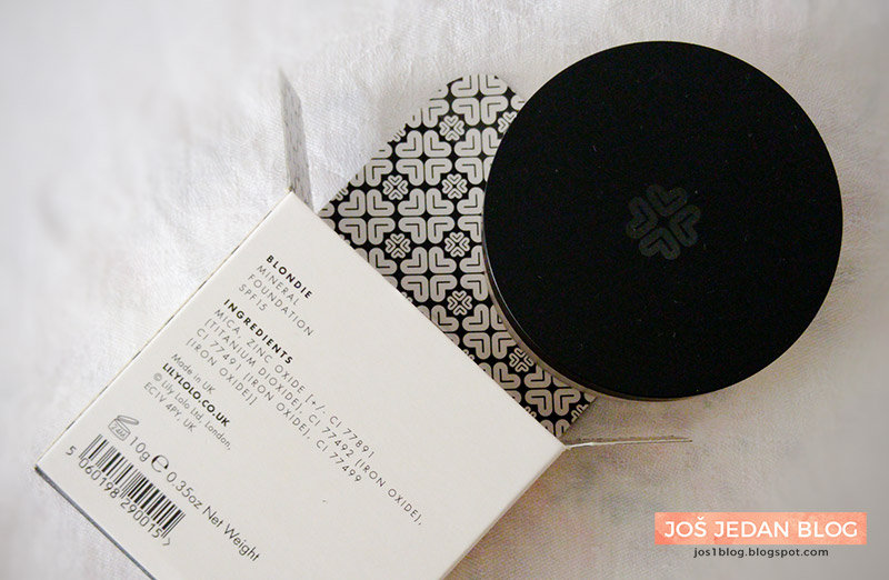 Lily Lolo Mineral Foundation in Blondie ingredients, review and swatches, Lily Lolo mineralni puder, recenzija, utisci, sastojci