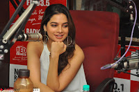 Tanya Hope in a whtie shirt and leggings at Song launch of Movie Patel Sir ~  Exclusive Celebrities Galleries 078.JPG