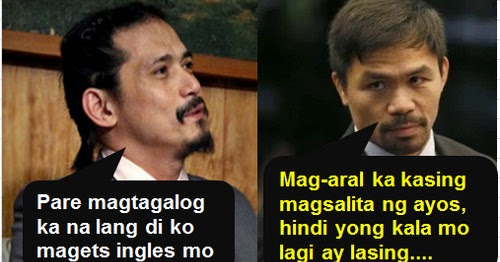 Robin Padilla Blasts Pacquiao for Delivering English Speech at Brent School Opening