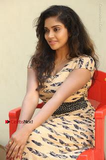 Telugu Actress Karunya Chowdary Stills in Short Dress at ATM Not Working Press Meet  0229.jpg