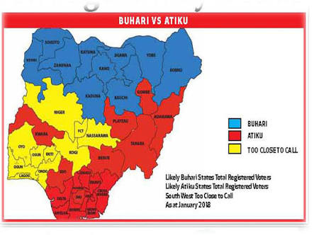 Prediction Emerges On How Buhari & Atiku Will Likely Share Votes In 2019