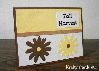 Handmade Fall Harvest Card
