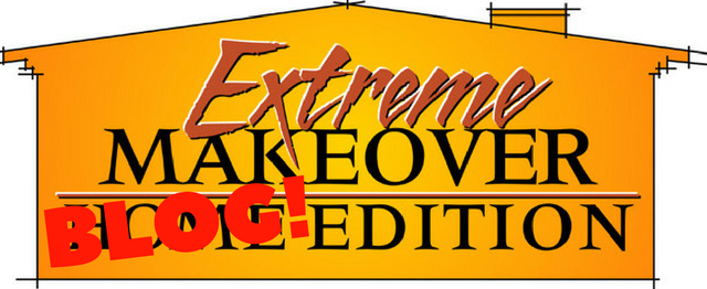 Extreme makeover blog edition