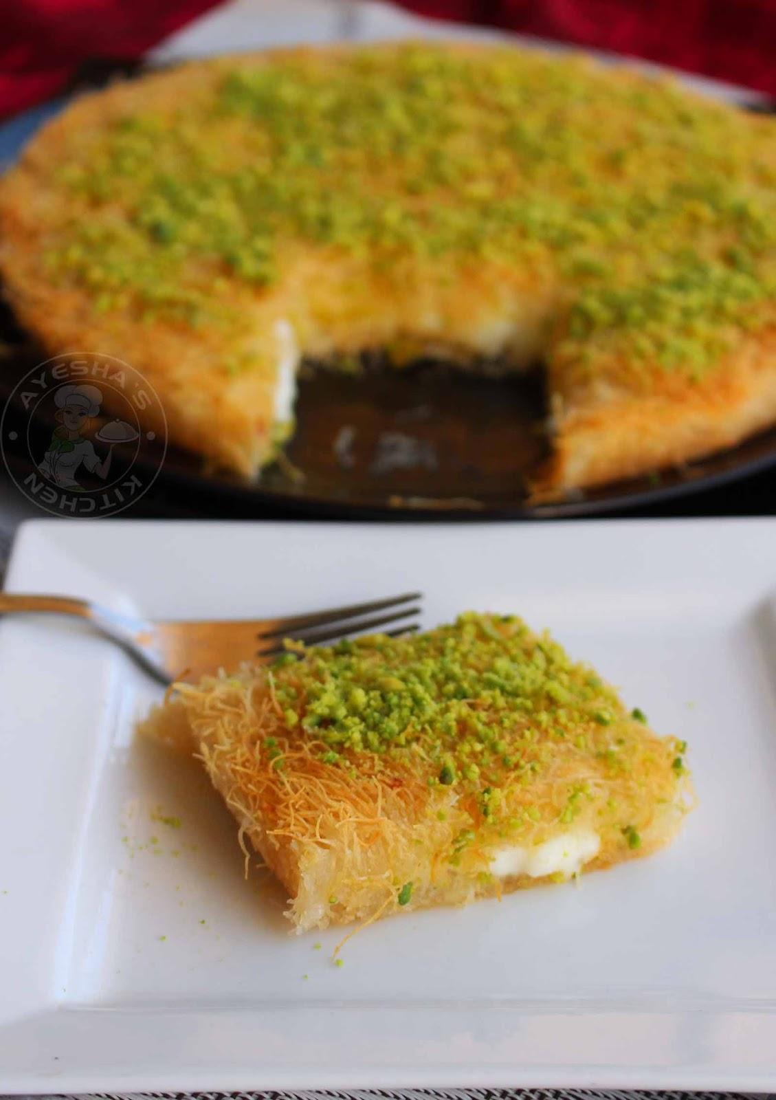 Kunafa Recipe Kunafa With Cheese Arabic Sweet