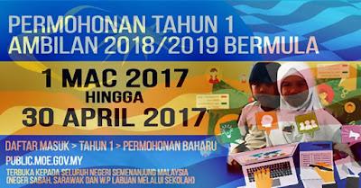 Pendaftaran PraSekolah KPM 2018 Secara Online