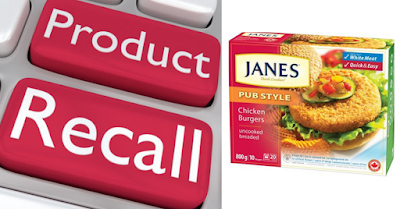 Product recall- Janes Pub Style Burgers