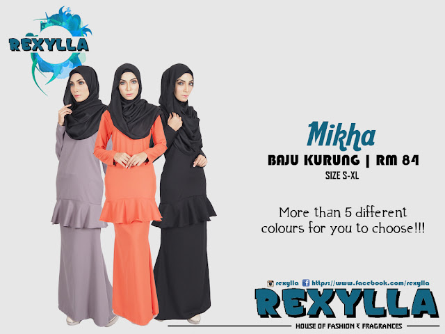 rexylla, baju kurung, mikha collection