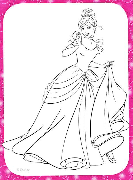 Disney Princess Cinderella Coloring Pages On Cartoons With Disney Princess  Coloring Pages Cinderella