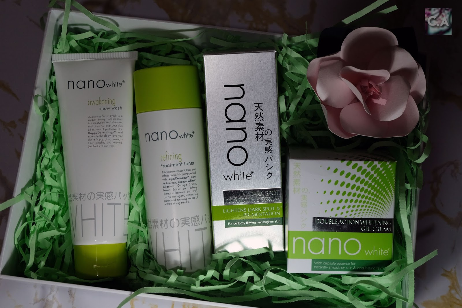 Complete Set Of Nano White Products But The Newest One Is Dark Spot Corrective Serum