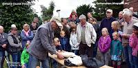 Beringung von Storch Arthurs Nachwuchs in Looft 2018