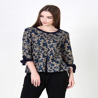Desain Baju Batik Modern Casual