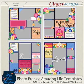 Creative Team, Annemarie, for GingerScraps -  Adventure: On the Road by Ponytails Designs with Coordinating Freebie and Photo Frenzy: Amazing Life Templates by Miss Fish