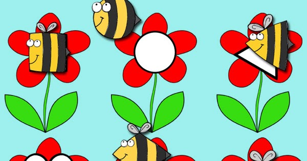 Bees & Flowers Shape Matching