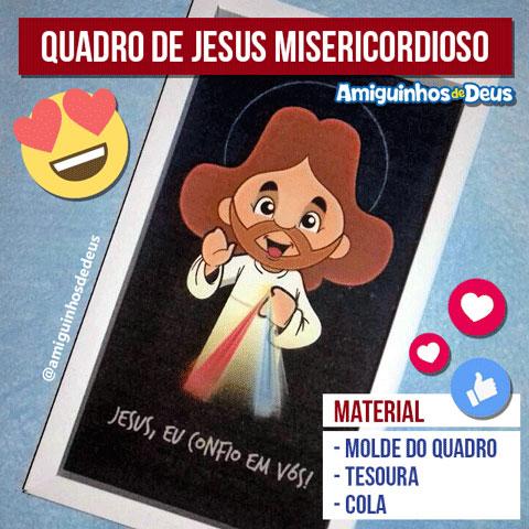 quadro jesus misericordioso desenho