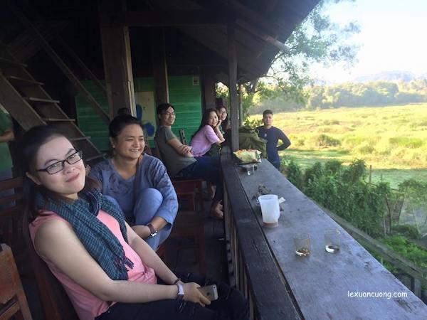 Uống cà phê sáng ở Bàu Sấu tại Rừng Nam Cát Tiên, Đồng Nai