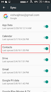 How to restore google contact number in gmail