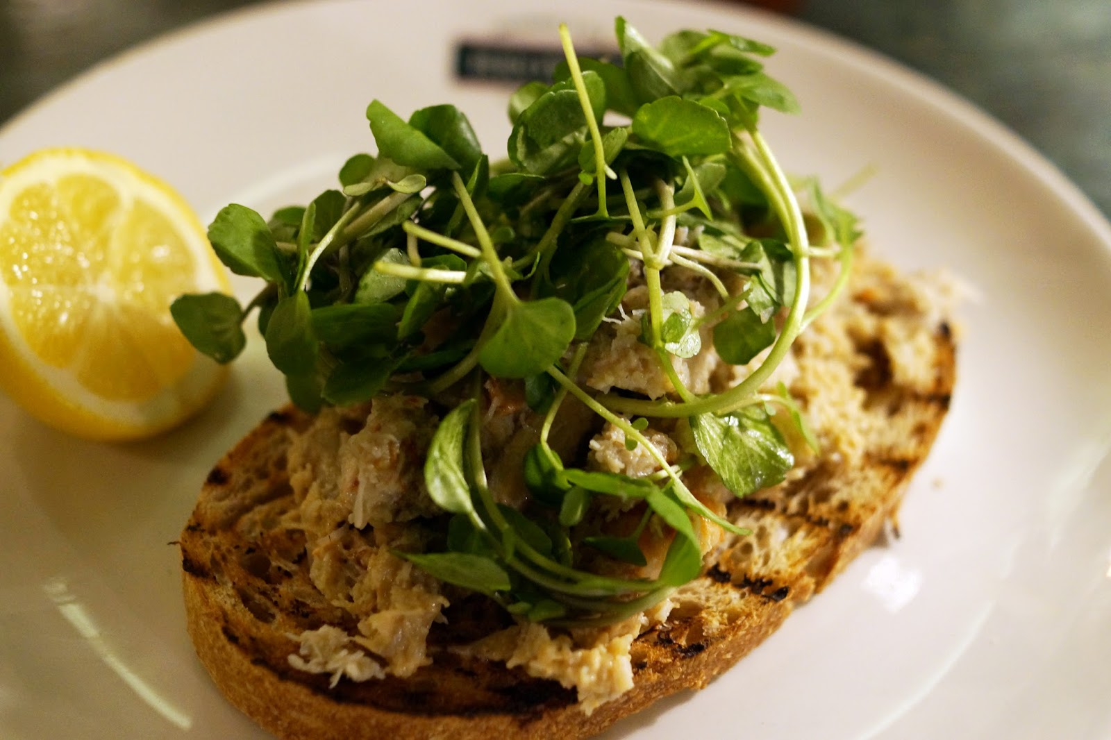 Hello Freckles Browns Brasserie Restaurant Newcastle Food Review crab on toast starter nebloggers