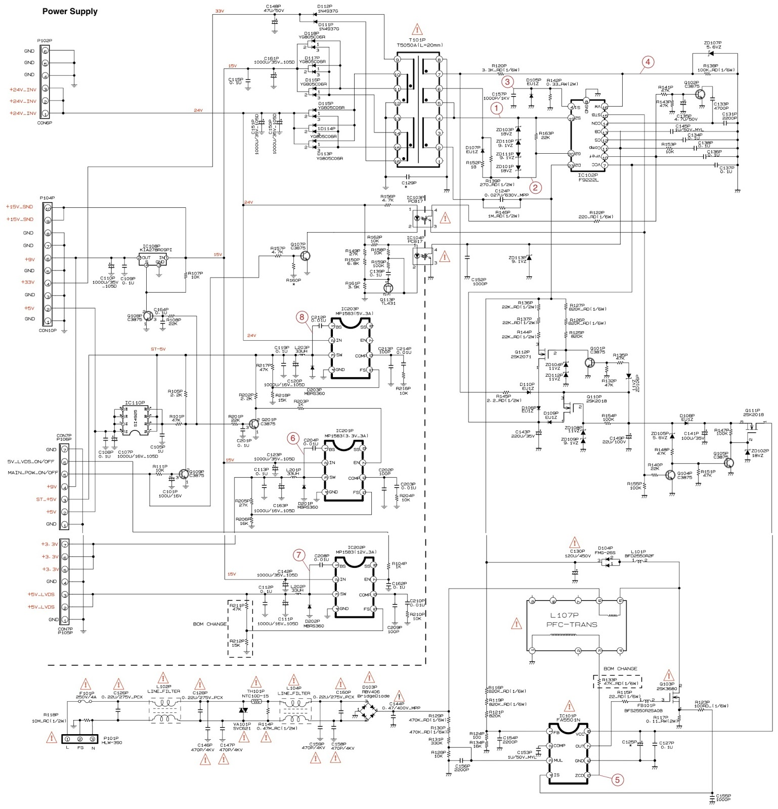 Grundig Montreal26 And Xentia26 26 Inch Lcd Tv Smps Single Subwoofer Wiring Diagram Display Driver Schematic