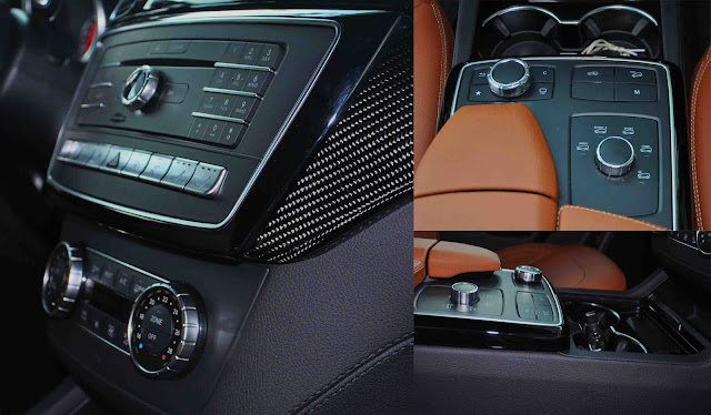 Tựa tay Mercedes AMG GLE 43 4MATIC Coupe 2017 được thiết kế nổi bật với rất nhiều tiện ích