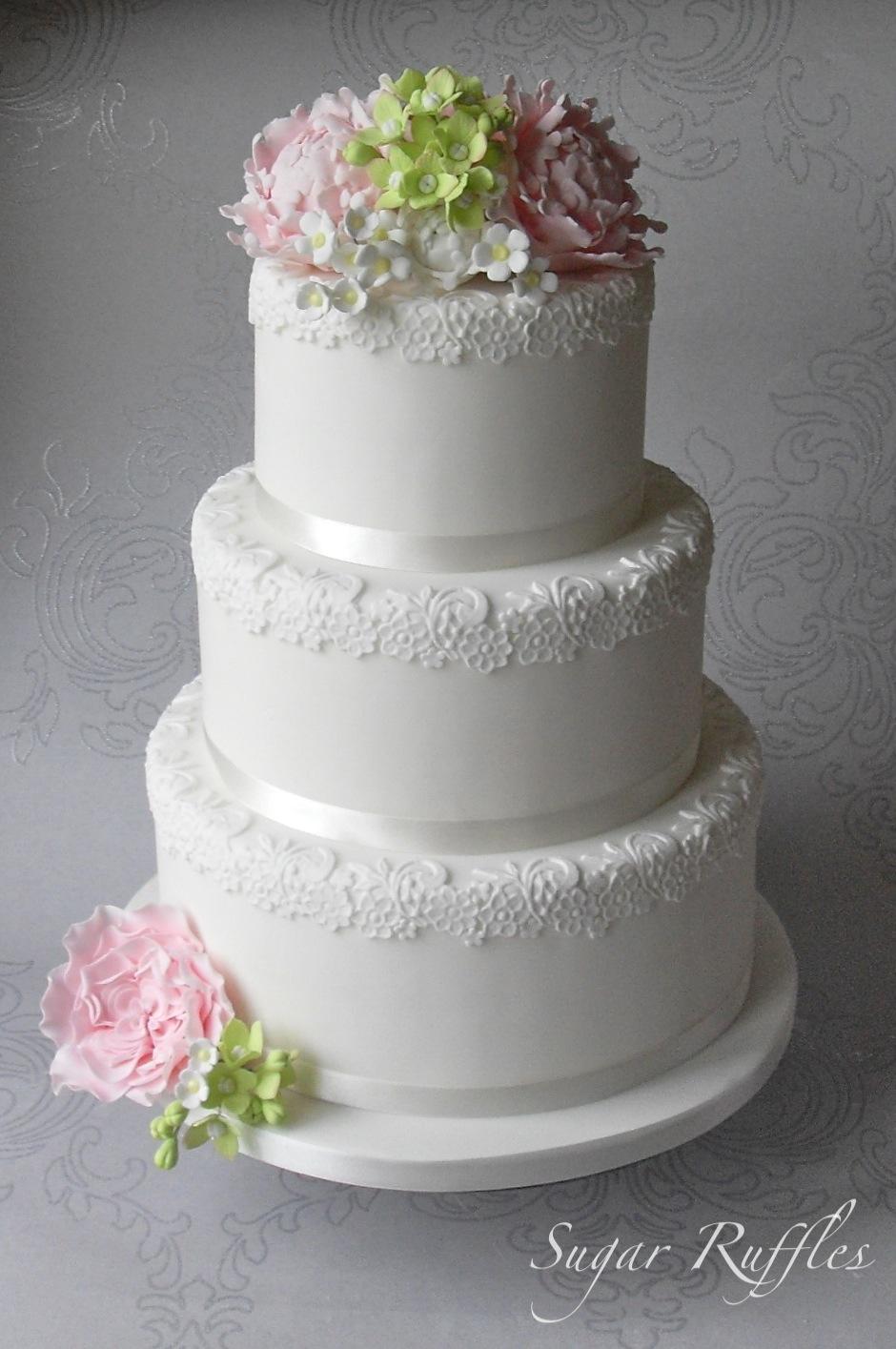 Floral Romance Wedding Cake
