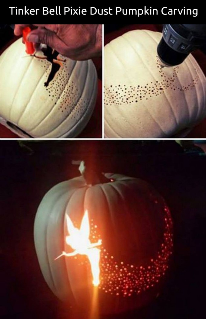 Diy tinker bell pumpkin idees and solutions for How to carve tinkerbell in a pumpkin
