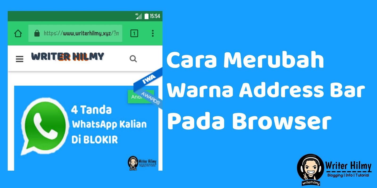 Cara Merubah Warna Address Bar Di Browser