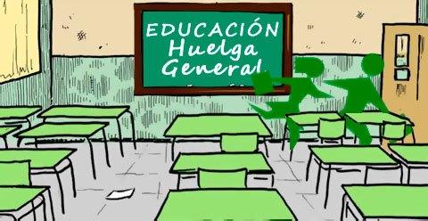 Resultado de imagen de convocada huelga de educacion