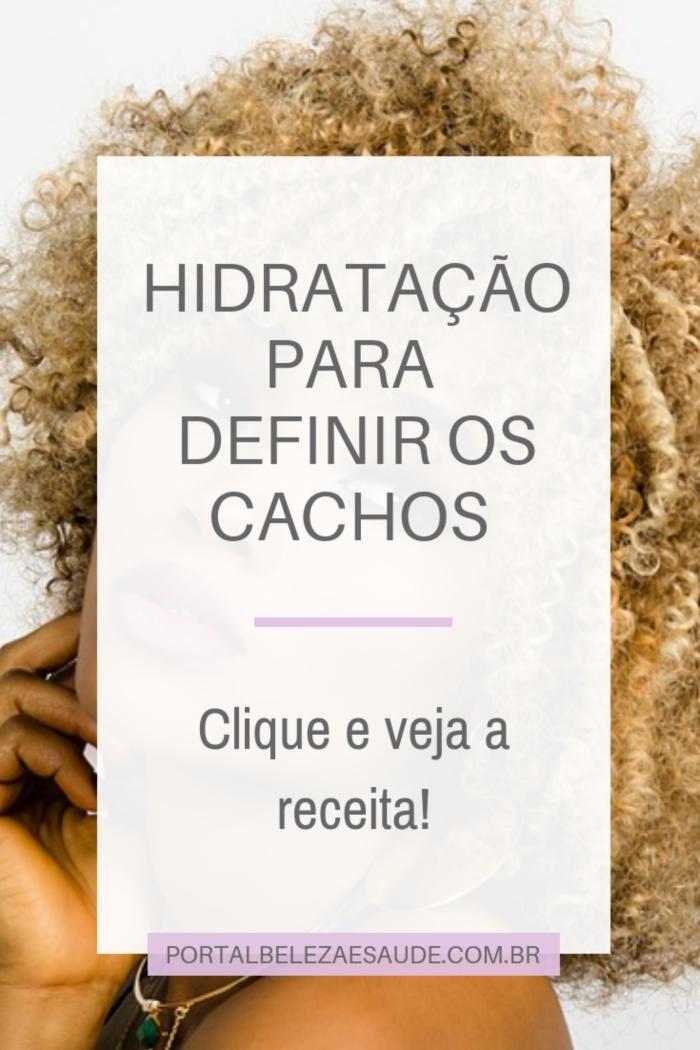HIDRATAÇÃO CASEIRA PARA DEFINIR OS CACHOS