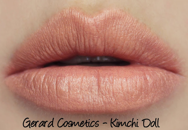 Gerard Cosmetics Lipsticks - Kimchi Doll Swatches & Review