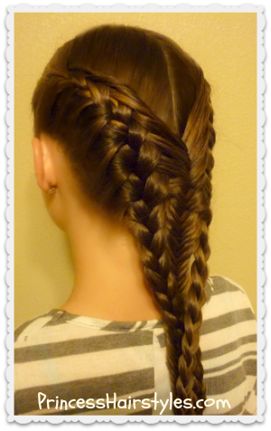 Diving Mermaid Braid Hairstyle Tutorial - Hairstyles For ...