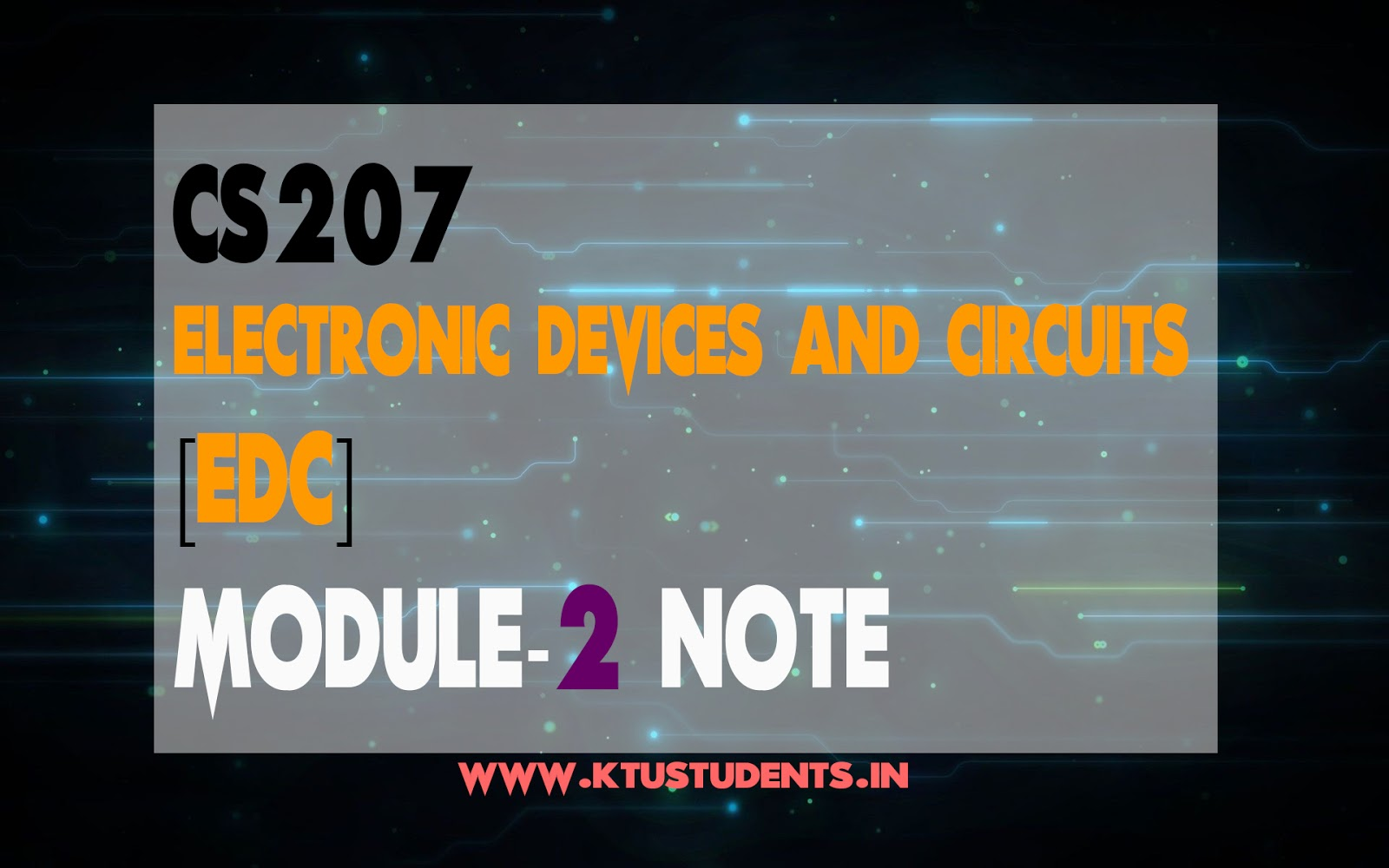 Electronic Devices And Circuits Pdf Techmax Publication