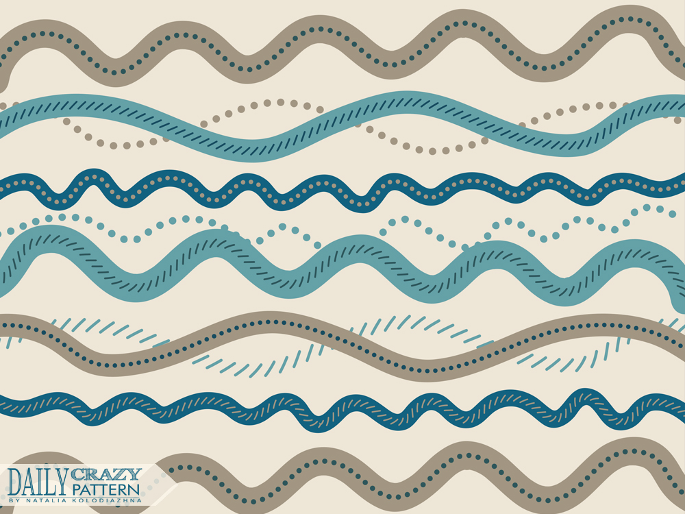 Cute waves pattern