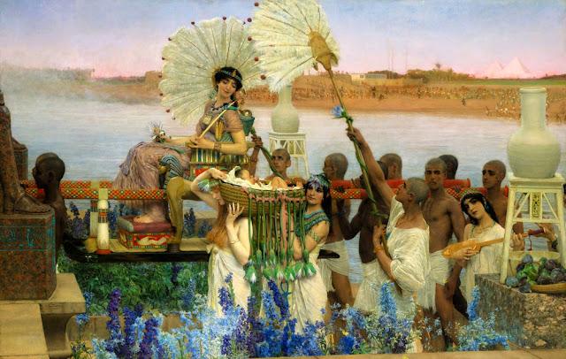 Lawrence Alta-Tadema - El hallazgo de Moisés - 1904