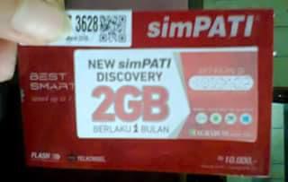 Cara Daftar Paket Internet simPATI 2GB 2 Bulan
