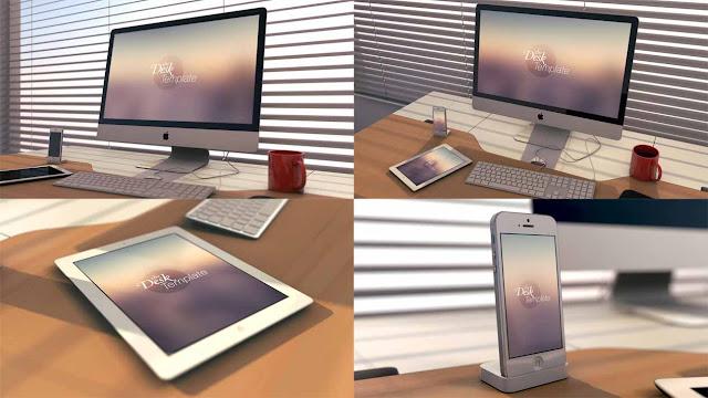 The Desk Mockups Template PSD