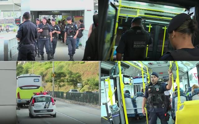 Ônibus de BH (MG) circulam policiados pela Guarda Municipal devido a assaltos