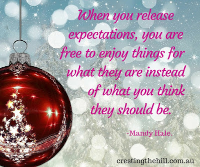 release expectations and enjoy things for they are - Mandy Hale