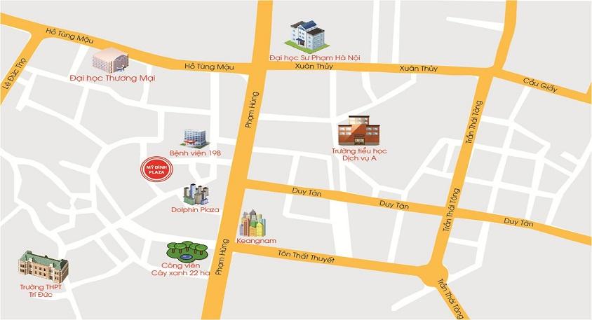vị trí chung cư mỹ đình plaza 2