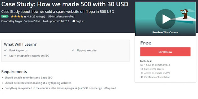 [100% Free] Case Study: How we made 500 with 30 USD