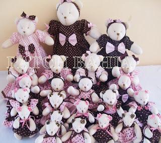Ursinhos de panos…masi uma turma linda!!!