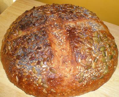 La Cocinera novata, Dakota bread, Pan con 7 cereales y semillas, avena, trigo, centeno, cebada, arroz, espelta, quinoa