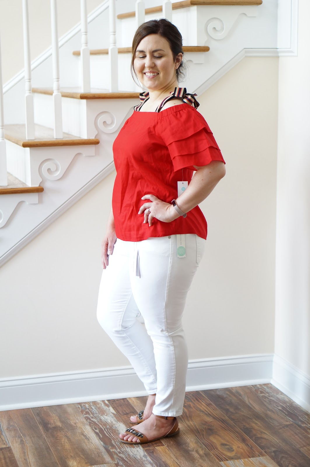 Popular North Caroilna style blogger Rebecca Lately shares her Stitch Fix outfits for May!  Check out what she got and what she kept!