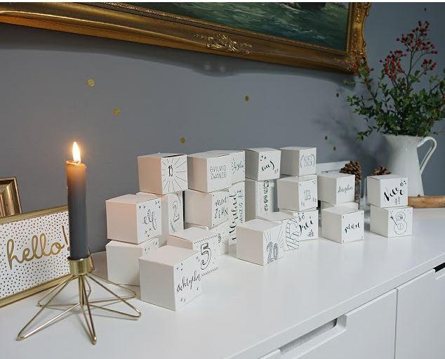 Adventskalender aus Faltboxen selber machen | Last Minute basteln | Schnell, einfach und ohne Stress | judetta.de
