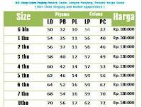 Ukuran Baju L Untuk Berat Badan Berapa