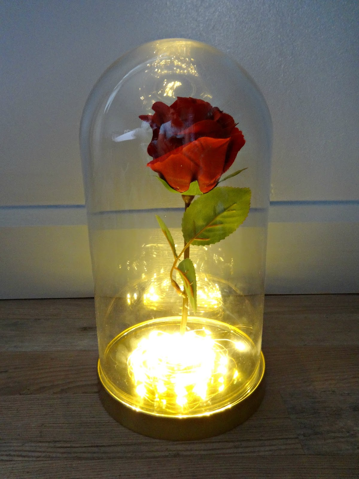 Beauty and the Beast bell jar DIY