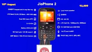 JioPhone 2 launched at Rs 2,999 Specifications, availability and more