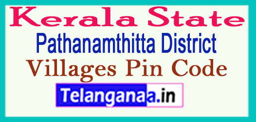 Pathanamthitta District Pin Codes in Kerala State