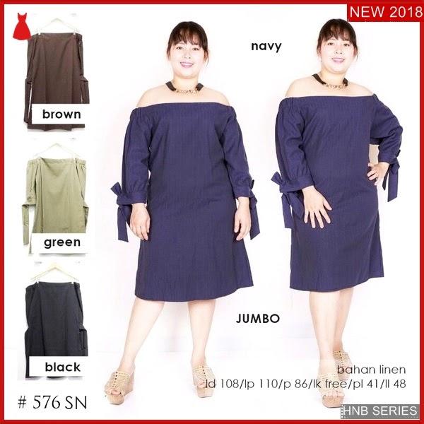 HNB143 Model Baju Ukuran Besar Jumbo Rina Basic BMG Shop